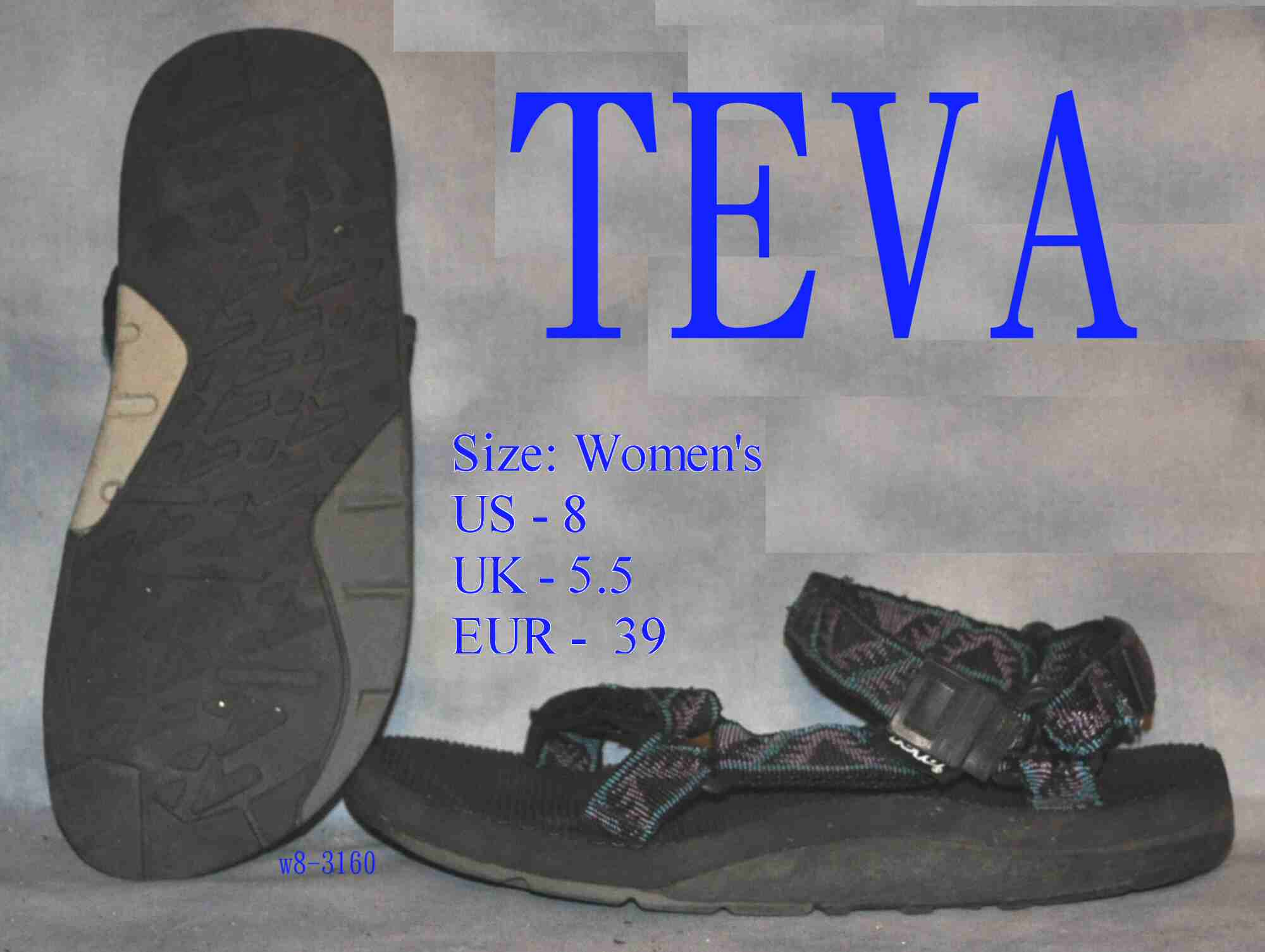 Details about Womens size 8 TEVA Water Sandals hiking shoes 3160